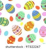 seamless pattern easter... | Shutterstock .eps vector #97322267