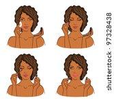 makeup  visage and beauty set... | Shutterstock .eps vector #97328438