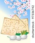 jewish celebrate pesach...   Shutterstock .eps vector #97336742