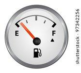 round empty gas tank... | Shutterstock .eps vector #97342256