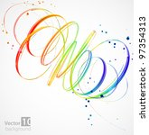 abstract color background.... | Shutterstock .eps vector #97354313