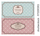 vintage envelopes | Shutterstock .eps vector #97359593