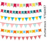 vector bunting collection | Shutterstock .eps vector #97360457