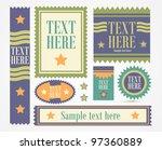 new vector labels   Shutterstock .eps vector #97360889