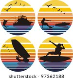water sports and leisure | Shutterstock .eps vector #97362188
