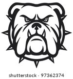 Angry Bulldog Head Vector...