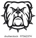 angry bulldog head vector...