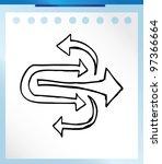 arrow   vector illustration... | Shutterstock .eps vector #97366664
