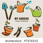 my garden vector images of...