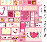 vector seamless valentine...   Shutterstock .eps vector #97378442