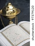 opened koran  quran  | Shutterstock . vector #97379120