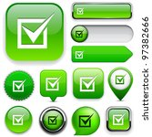 checkmark green design elements ... | Shutterstock .eps vector #97382666