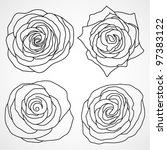 collection of roses | Shutterstock .eps vector #97383122