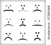 set of emotion | Shutterstock .eps vector #97385468