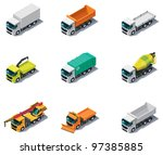 vector isometric transport.... | Shutterstock .eps vector #97385885