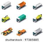 vector isometric transport....   Shutterstock .eps vector #97385885