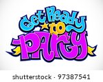 party time invitation... | Shutterstock . vector #97387541
