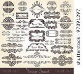 royal banner set label | Shutterstock .eps vector #97391297