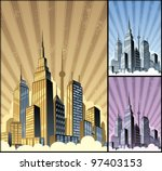 cityscape vertical  cartoon... | Shutterstock .eps vector #97403153