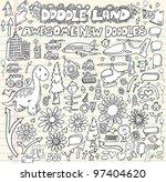 notebook doodle design elements ... | Shutterstock .eps vector #97404620