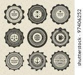 vintage style retro emblem... | Shutterstock .eps vector #97406252