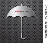Metal umbrella illustration