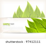 background with green leaves... | Shutterstock .eps vector #97412111