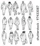 walking people  front . people... | Shutterstock .eps vector #97433087