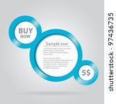 abstract glossy speech bubble.... | Shutterstock .eps vector #97436735
