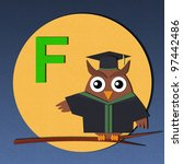 "the alphabet ""f"" and graduates... | Shutterstock . vector #97442486"
