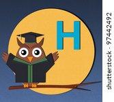 "the alphabet ""h"" and graduates... | Shutterstock . vector #97442492"