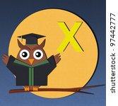 "the alphabet ""x"" and graduates... | Shutterstock . vector #97442777"