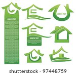 homes and cottages  vector... | Shutterstock .eps vector #97448759