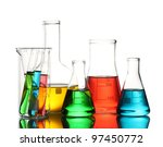 different laboratory glassware... | Shutterstock . vector #97450772