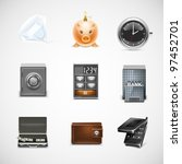finance vector icon set | Shutterstock .eps vector #97452701