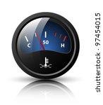 vector motor temperature gauge... | Shutterstock .eps vector #97454015
