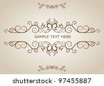 vintage design elements | Shutterstock .eps vector #97455887