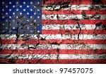 american flag on rock background | Shutterstock . vector #97457075