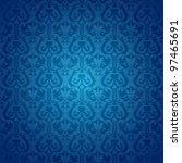 retro background floral blue... | Shutterstock .eps vector #97465691