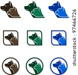 Stock vector vector icons with animals logo design 97466726