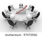 3d people   men  person sitting ... | Shutterstock . vector #97473506