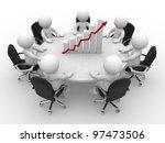 3d people   men  person sitting ... | Shutterstock . vector #97473506