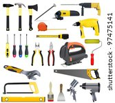 set tools on a white background | Shutterstock .eps vector #97475141