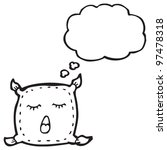 cartoon cushion character   Shutterstock . vector #97478318