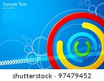 illustration of abstract colorful shape on vector background - stock vector