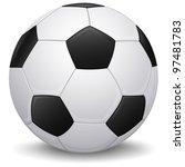 detailed soccer ball  football... | Shutterstock . vector #97481783