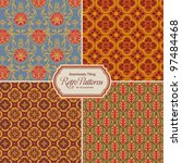 seamlessly tiling retro...   Shutterstock .eps vector #97484468