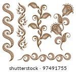 ornamental seamless borders.... | Shutterstock .eps vector #97491755