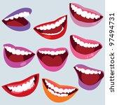 nice smiles   Shutterstock .eps vector #97494731