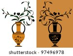 ancient greek amphora with...